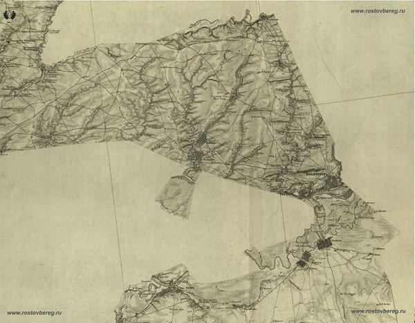 Фрагмент карты Екатеринославской губернии